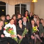 Po jubiliejinio koncerto su pirmaisiais choro vadovais 2008 04 12